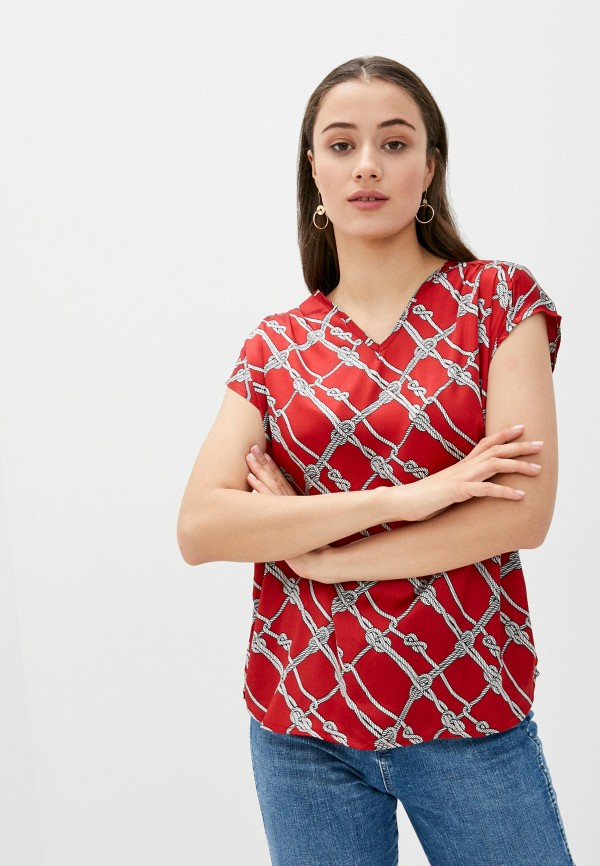 женская блузка code, красная