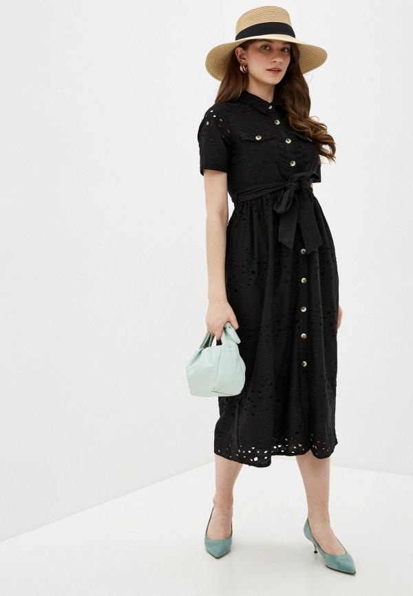 женское повседневные платье code, черное