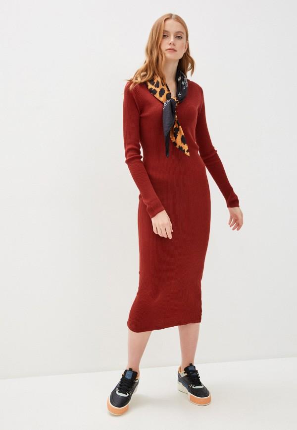 женское повседневные платье code, красное