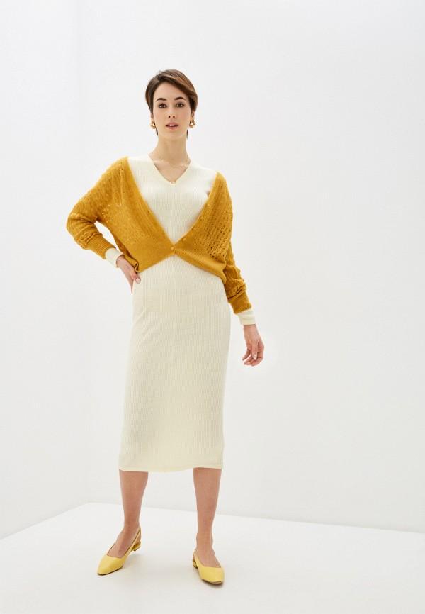 женское платье code, бежевое