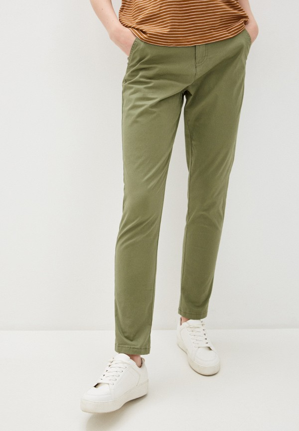 женские повседневные брюки code, хаки