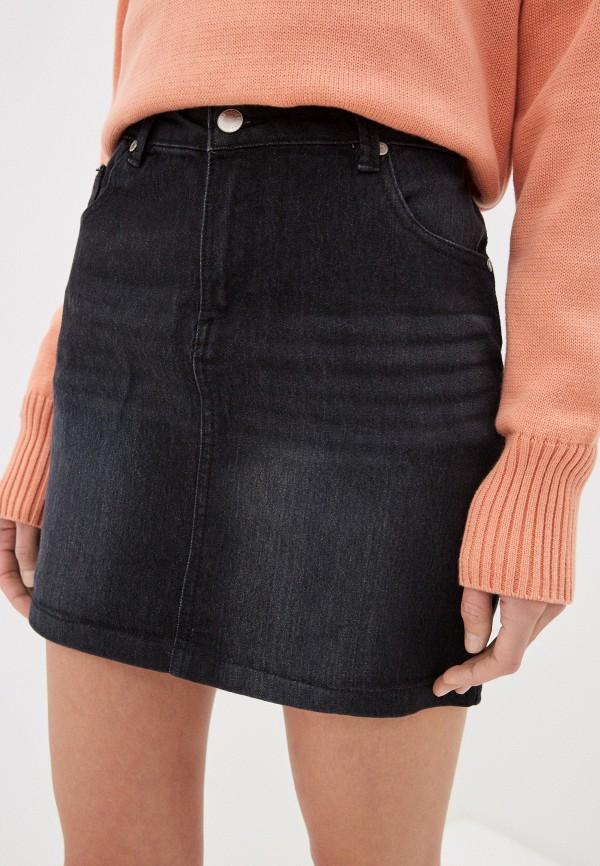 женская джинсовые юбка code, черная