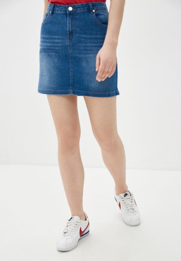 женская джинсовые юбка code, синяя