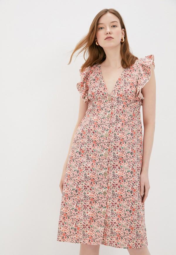 женское повседневные платье code, розовое