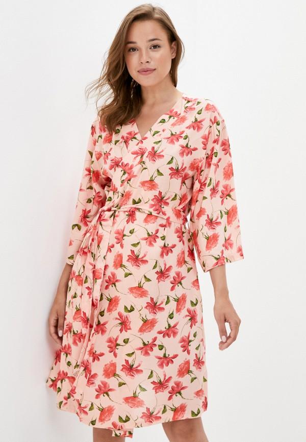 женский халат code, розовый