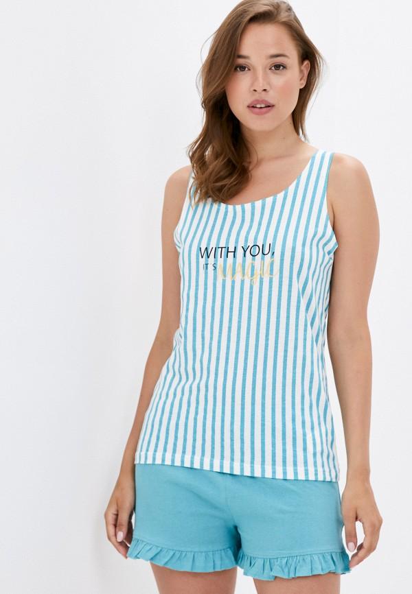 женская пижама code, бирюзовая