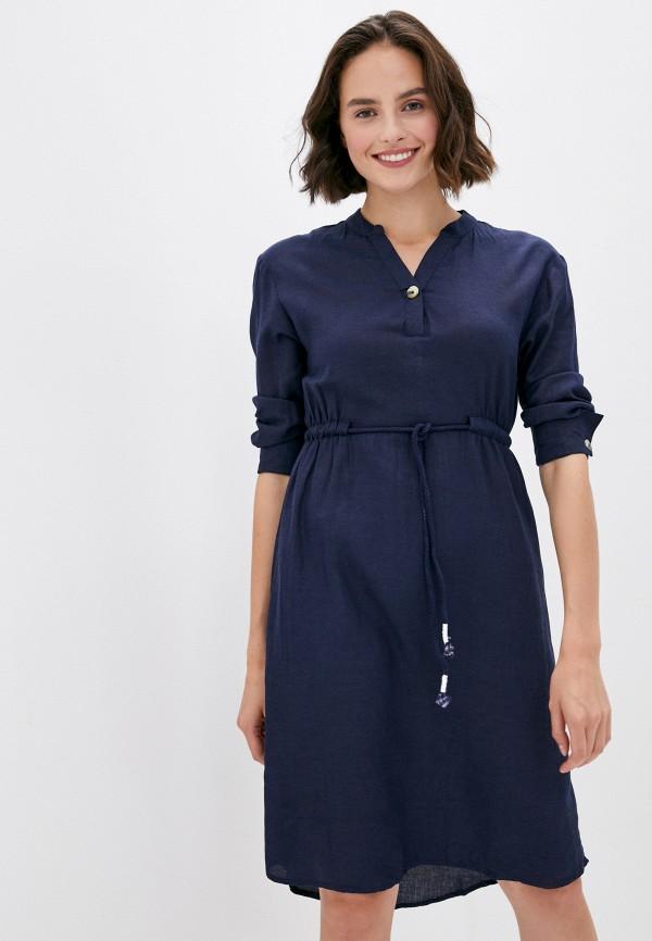 женское повседневные платье code, синее