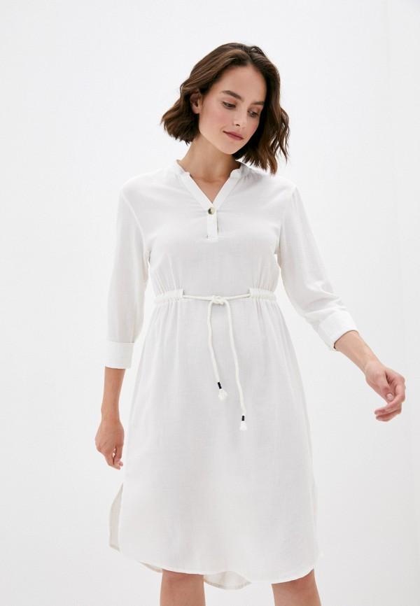женское повседневные платье code, белое