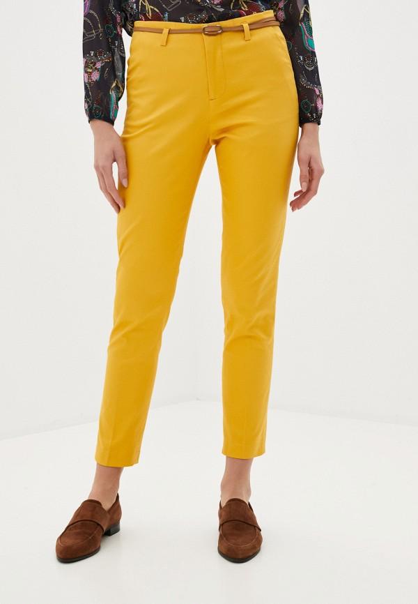женские повседневные брюки code, желтые