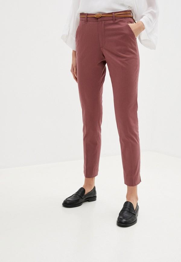женские прямые брюки code, розовые