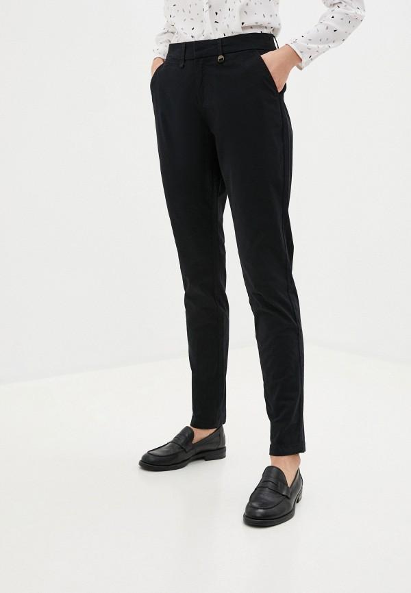 женские зауженные брюки code, черные