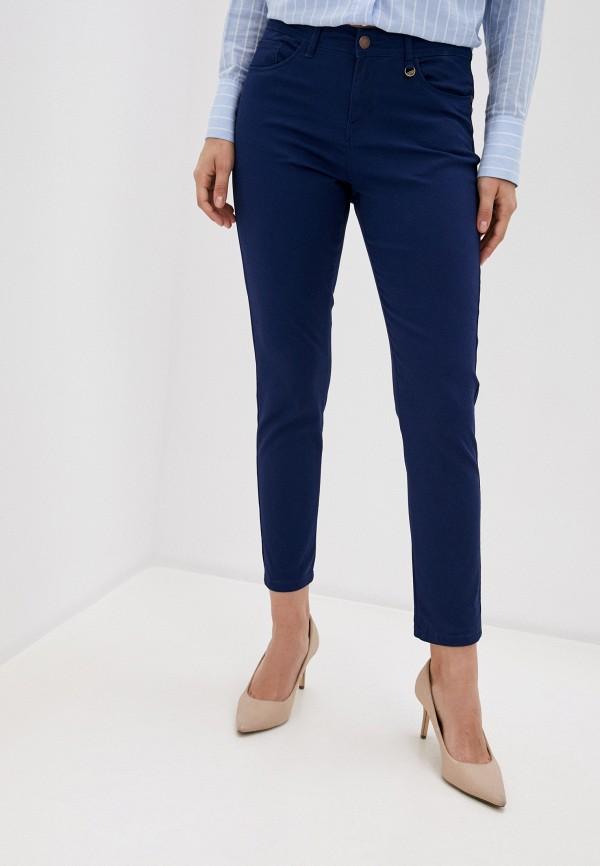 женские зауженные брюки code, синие