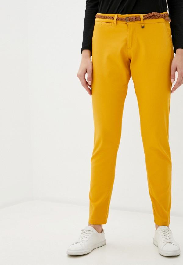 женские зауженные брюки code, желтые