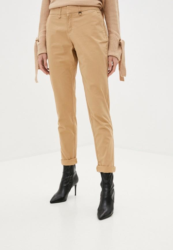 женские прямые брюки code, бежевые