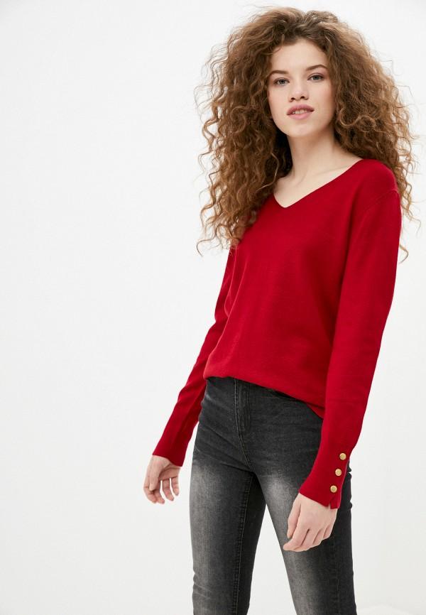 женский пуловер code, красный