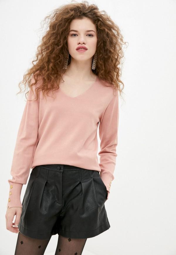 женский пуловер code, розовый