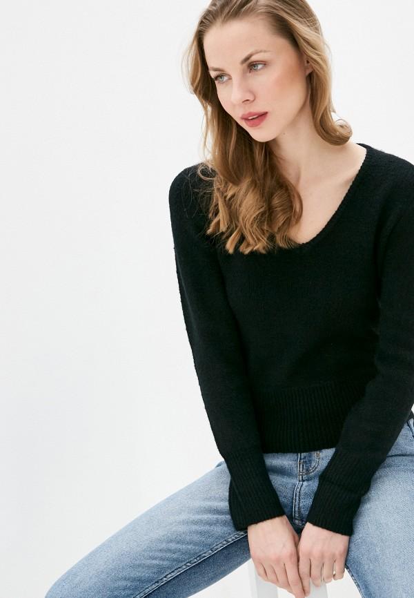 женский пуловер code, черный