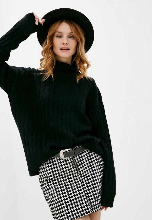 женский свитер code, черный