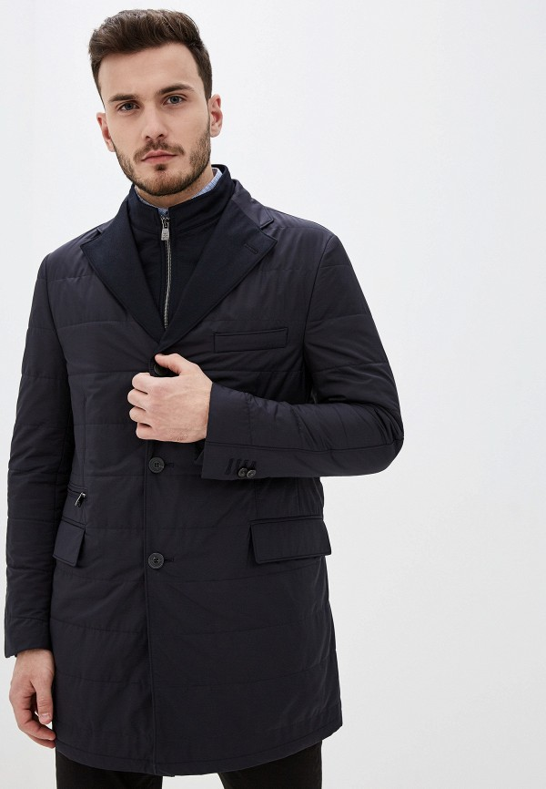 мужская утепленные куртка corneliani, синяя