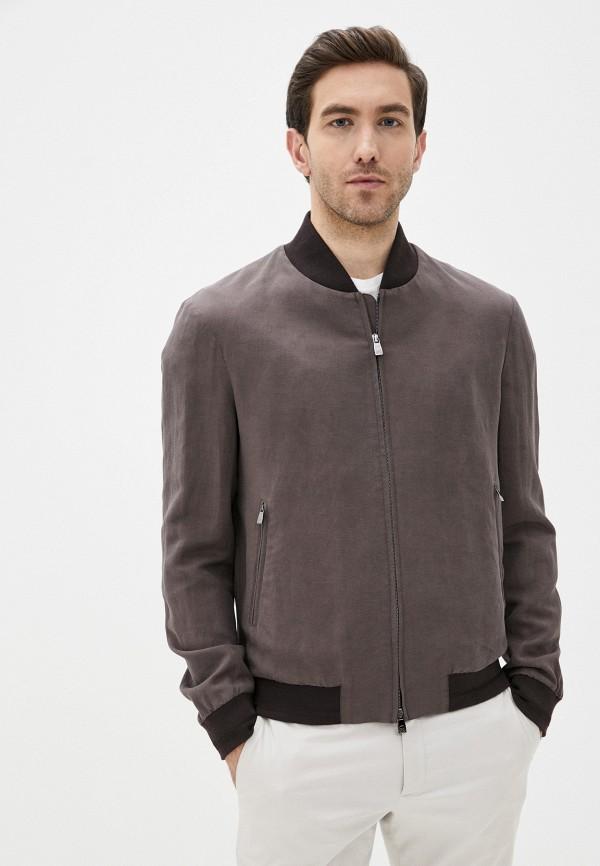мужская куртка corneliani, коричневая