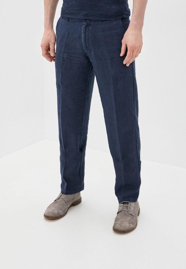 мужские прямые брюки corneliani, синие
