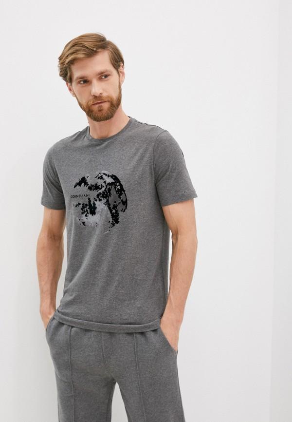 мужская футболка corneliani, серая