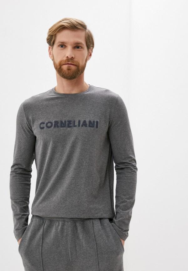 мужской лонгслив corneliani, серый