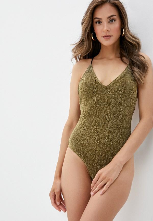 женский купальник cotazur, золотой