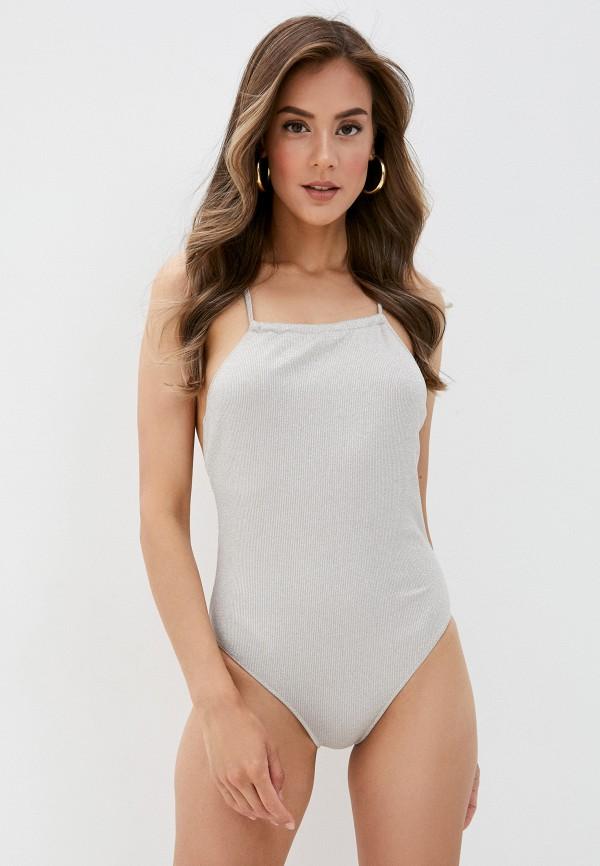 женский купальник cotazur, серебряный