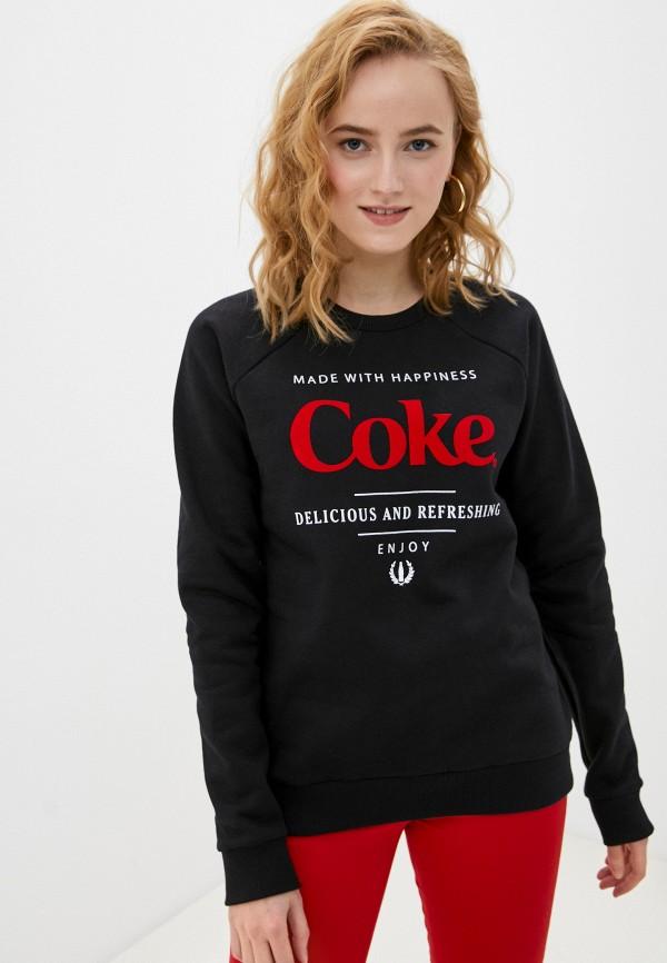 женский свитшот coca cola jeans, черный