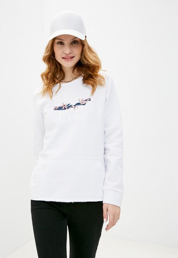 женский свитшот coca cola jeans, белый