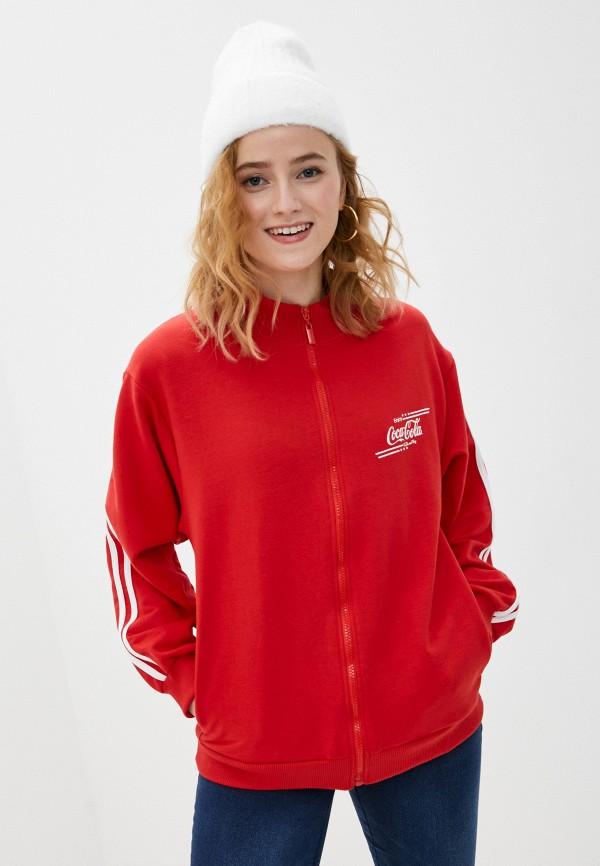 женская олимпийка coca cola jeans, красная