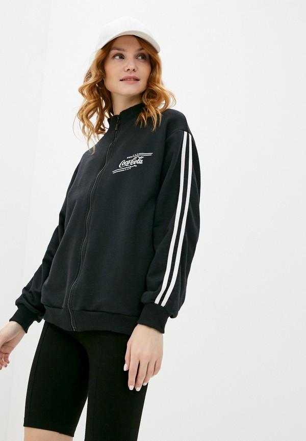 женская олимпийка coca cola jeans, черная