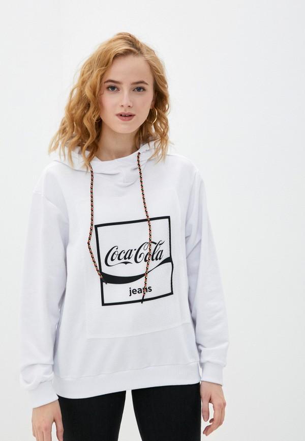 женские худи coca cola jeans, белые