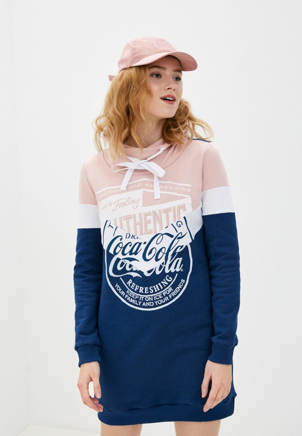 женское платье coca cola jeans, разноцветное