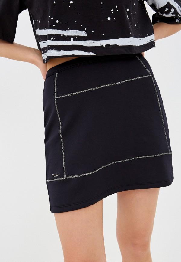 женская юбка coca cola jeans, черная