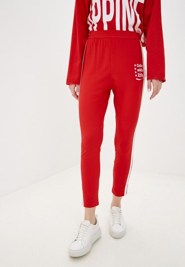 женские спортивные брюки coca cola jeans, красные