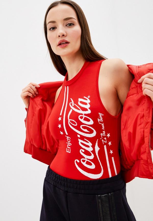женские боди coca cola jeans, красные