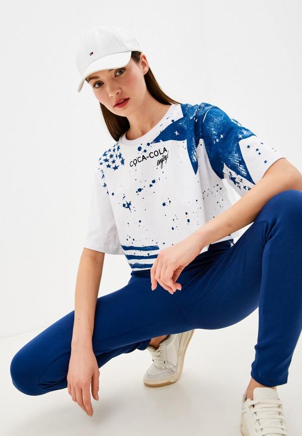 женская футболка coca cola jeans, белая