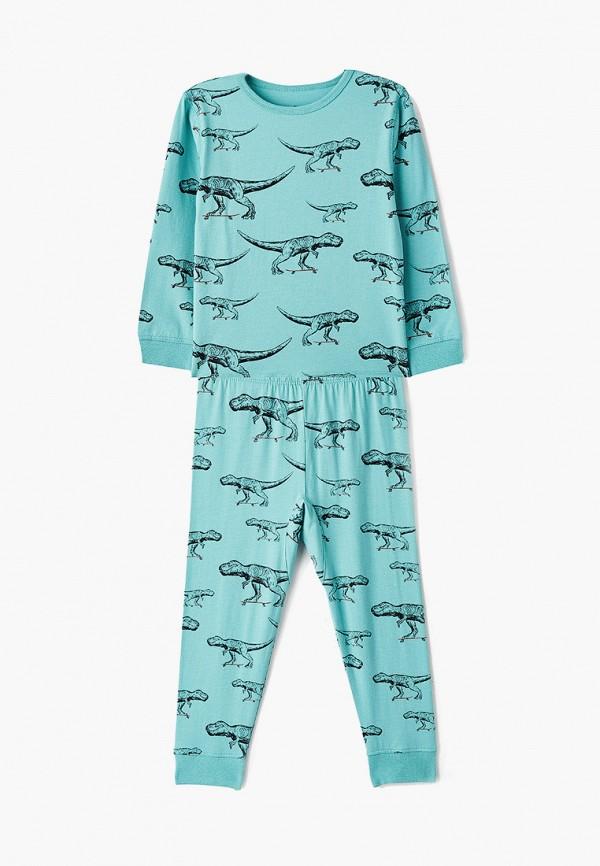 пижама cotton on для мальчика, бирюзовая