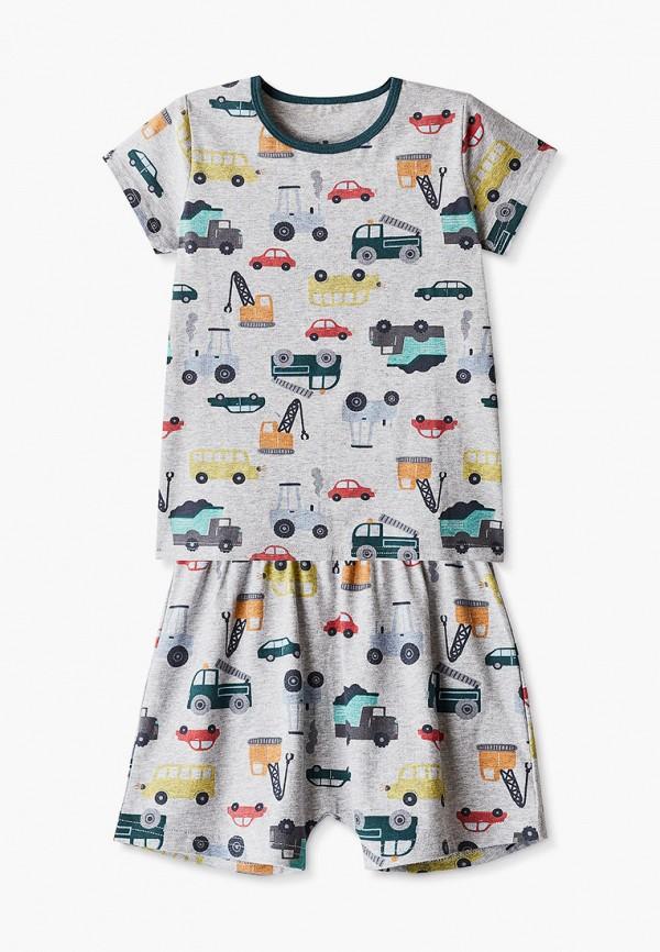 пижама cotton on для мальчика, серая