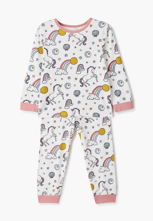пижама cotton on для девочки, белая