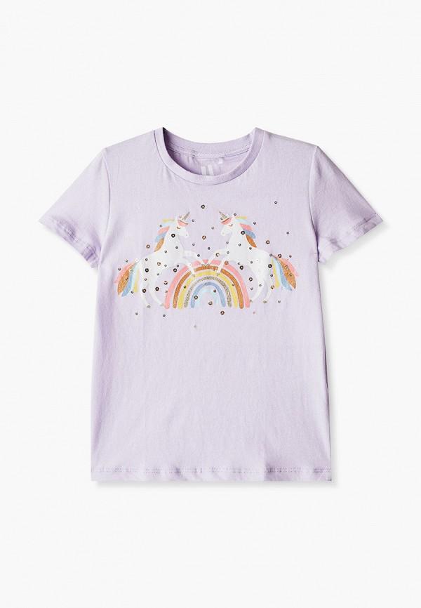 футболка с коротким рукавом cotton on для девочки, фиолетовая