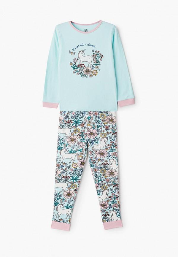 пижама cotton on для девочки, бирюзовая