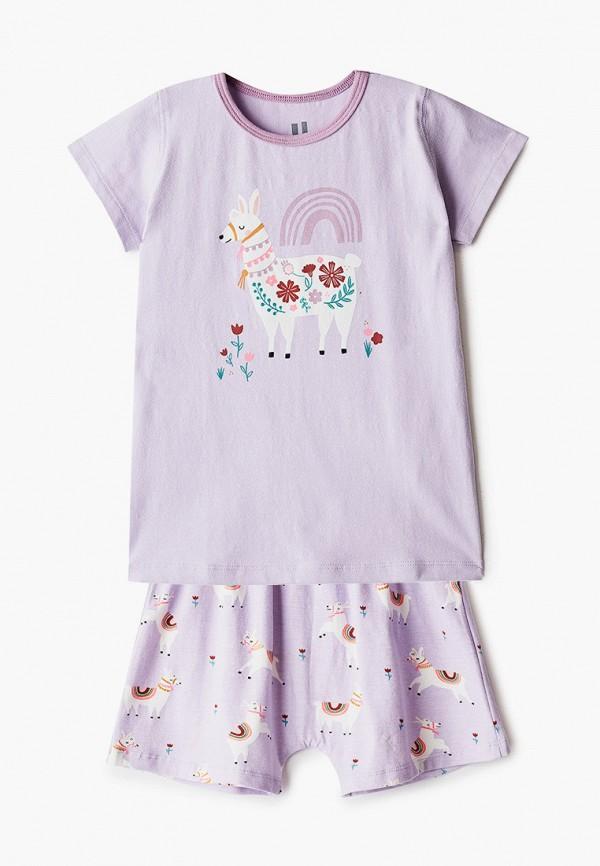 пижама cotton on для девочки, фиолетовая