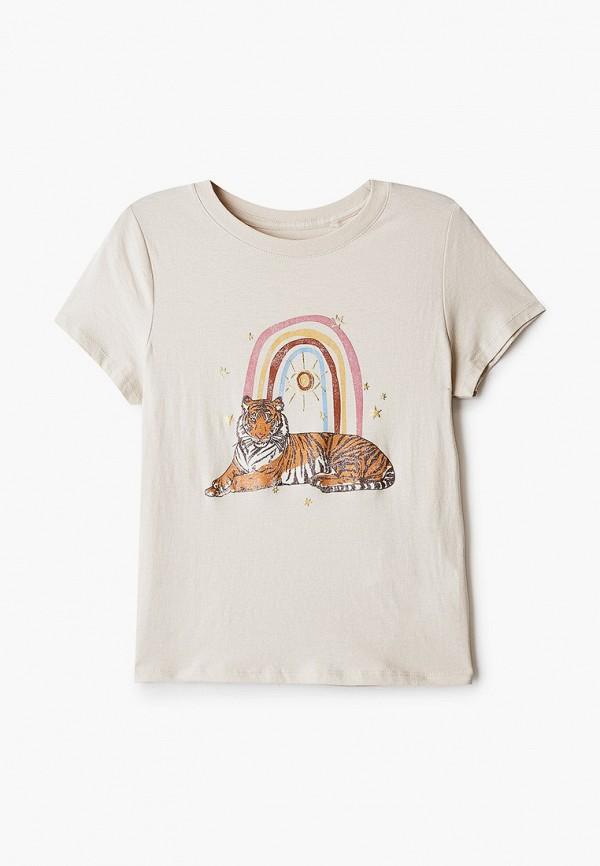футболка с коротким рукавом cotton on для девочки, бежевая