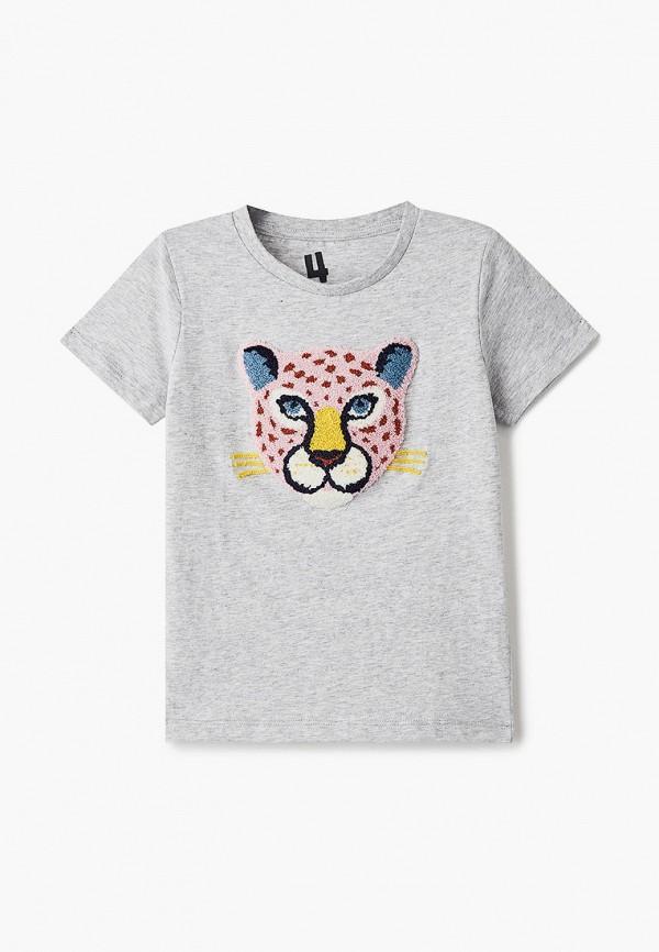 футболка с коротким рукавом cotton on для девочки, серая