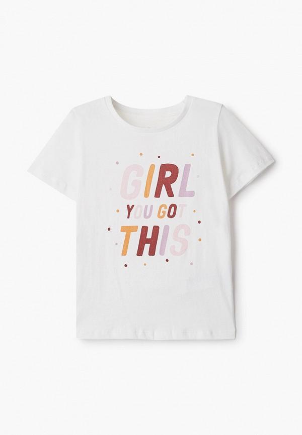 футболка с коротким рукавом cotton on для девочки, белая