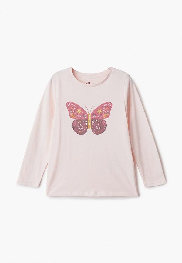 лонгслив cotton on для девочки, розовый