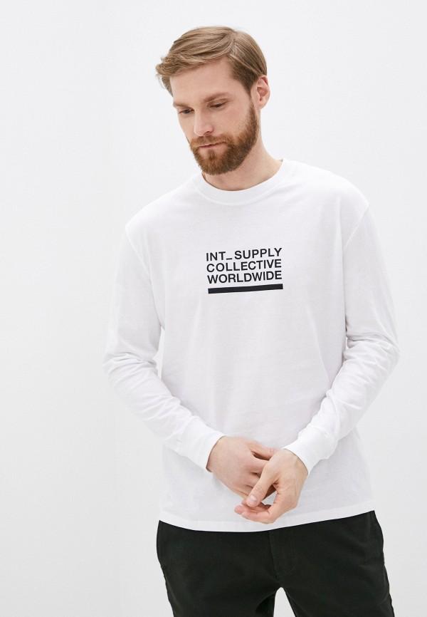 мужской лонгслив cotton on, белый